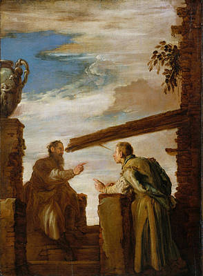 Bible Poster Painting - The Parable Of The Mote And The Beam by Domenico Fetti
