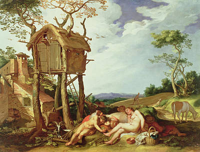 Dove Painting - The Parable Of The Wheat And The Tares by Abraham Bloemaert