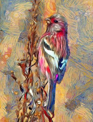 Pet Portraits Digital Art - The Paradise Bird by Yury Malkov