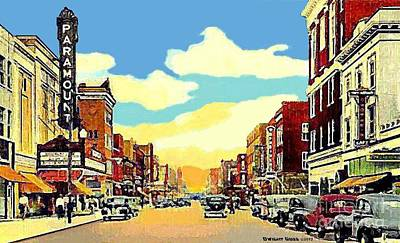 The Paramount Theatre In Newport News Va In 1940 Art Print