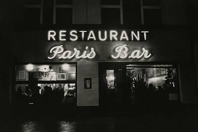 Sign Photograph - The Paris Bar by Dominique Nabokov