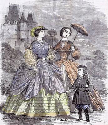 The Paris Fashions For June Child 1860  Parasol Full Art Print