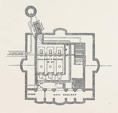 Boiler Drawing - The Paris International Exhibition Plan Of Boiler House by French School