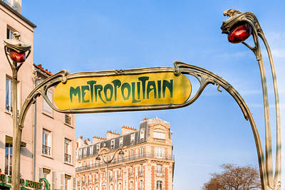 Photograph - The Paris Metro - Classic Art Nouveau by Mark E Tisdale