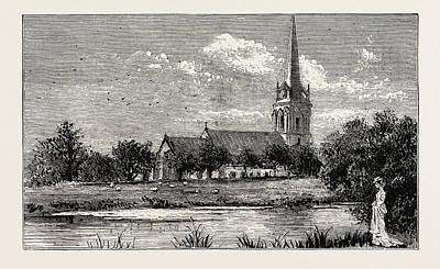 Parish Drawing - The Parish Church, Worsley by English School