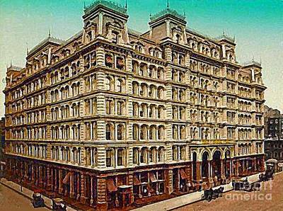 Painting - The Park Avenue Hotel In New York City In 1910 by Dwight Goss