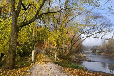 River Scenes Photograph - The Park by Debra and Dave Vanderlaan