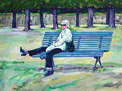 The Park Art Print by Derrick Higgins