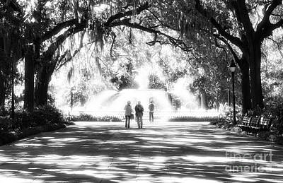 Savannah Fine Art . Savannah Old Trees Photograph - The Park by John Rizzuto