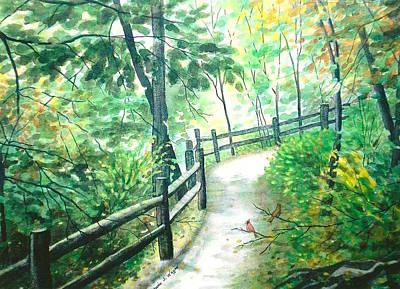 The Park Trail - Mill Creek Park Art Print