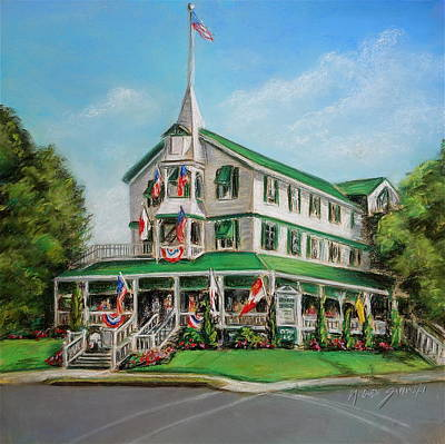Painting - The Parker House by Melinda Saminski