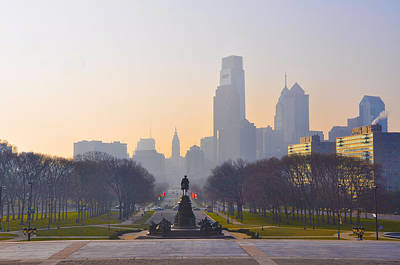 The Parkway In The Morning Art Print