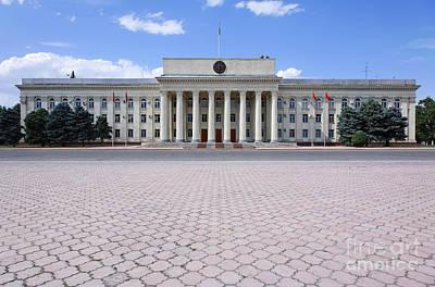 Kyrgyzstan Photograph - The Parliament Buildings In Bishkek Kyrgyzstan by Robert Preston