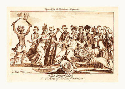 Camden Drawing - The Parricide A Sketch Of Modern Patriotism, En Sanguine by Litz Collection