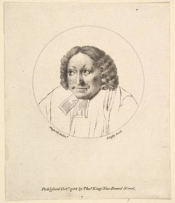 Stipple Drawing - The Parsons Head by after William Hogarth