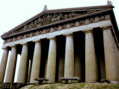 Photograph - The Parthenon Nashville Tn by Jodie Marie Anne Richardson Traugott          aka jm-ART