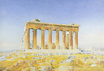 Greek Temple Painting - The Parthenon by Thomas Hartley Cromek
