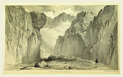 The Pass Of Dariel, Travels In The Trans-caucasian Art Print by Litz Collection