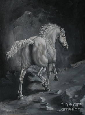Horse Painting - The Passage by Lisa Phillips Owens