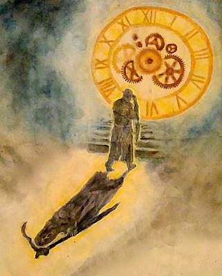 Reaper Mixed Media - The Passage Of Father Time by Jennie Hallbrown