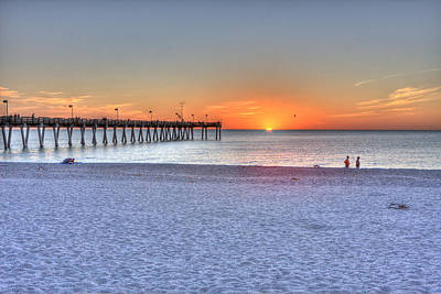 Venice Beach Photograph - The Passing Of A Beautiful Day.  by Gerald Adams