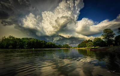 Stormy Photograph - The Passing Storm by Everet Regal