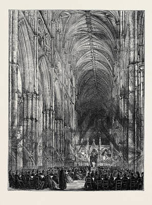 Westminster Abbey Drawing - The Passion-music Service At Westminster Abbey by English School