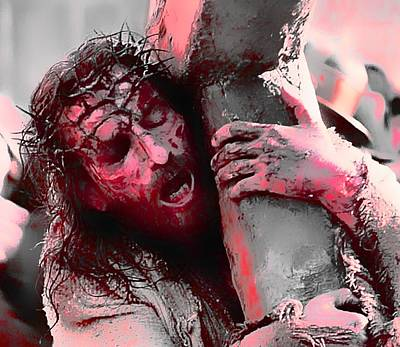 The Passion Of The Christ 'for Our Sins' Art Print by Robert Rhoads