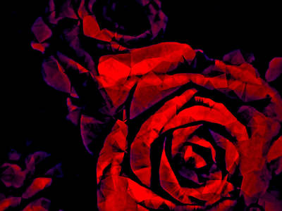 Mixed Media - The Passion Of The Rose by Susan Maxwell Schmidt