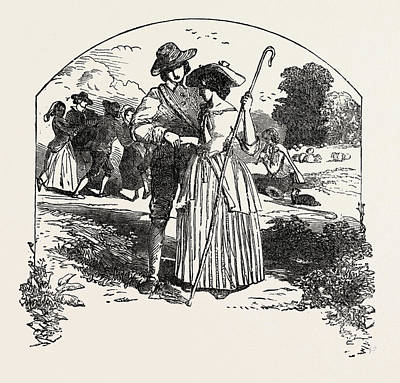 Passionate Drawing - The Passionate Shepherd To His Love Book Of English Songs by English School