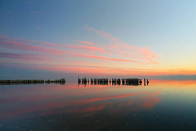 Pastel Sunset Photograph - The Pastel Sea by Larry Marshall