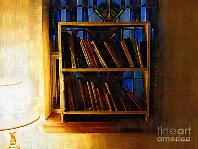 Bookshelf Painting - The Pastor's Bookshelf by RC DeWinter