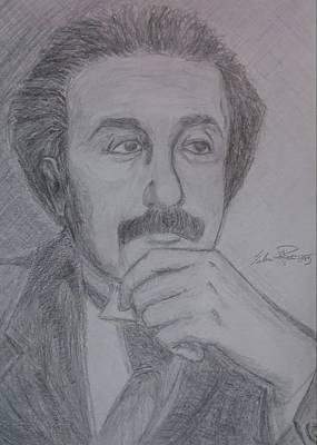 Einstein Drawing - The Patent Clerk  by Salvatore Roma