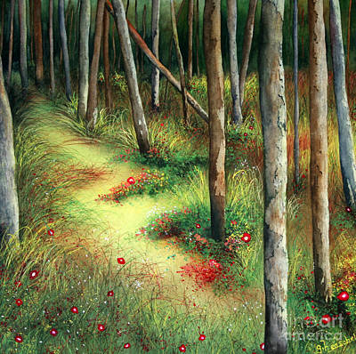 Painting - The Path Less Traveled by Glenyse Henschel