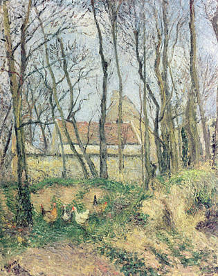 The Path Of The Wretched Print by Camille Pissarro