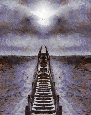 Dove Mixed Media - The Path To Heaven by Dan Sproul