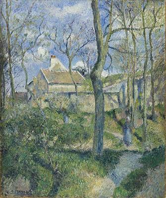 Old Barns Digital Art - The Path To Les Pouilleux Pontoise by Camille Pissarro