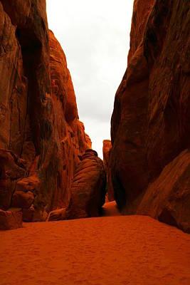 The Path To San Dune Falls Art Print by Jeff Swan