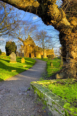 Photograph - The Path To The Ruins Of Beauly Priory by Mark E Tisdale