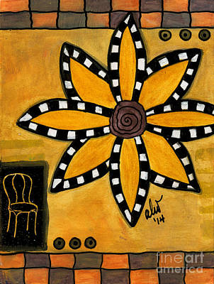 Painting - The Patio Chair by Angela L Walker