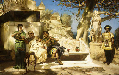 Food And Drink Painting - The Patrician's Siesta by Hendrik Siemiradzki