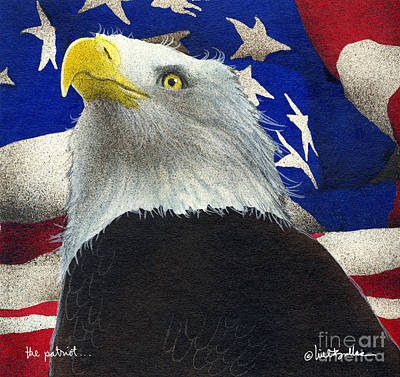 The Patriot... Art Print by Will Bullas