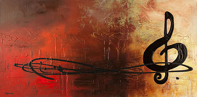 Modern Abstract Painting - The Pause by Carmen Guedez