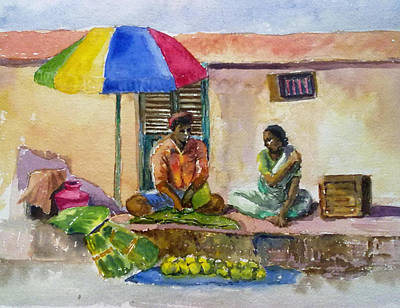 Ethereal - The pavement vendors by Asha Sudhaker Shenoy