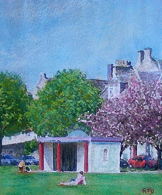 Painting - The Pavilion Tweed Green Peebles by Richard James Digance