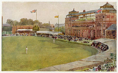Cricket Drawing - The Pavillion At Lord's Cricket Ground by Mary Evans Picture Library