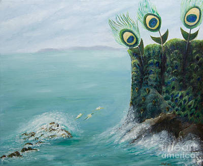 The Peacock Cliffs Art Print