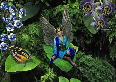 Fairy Photograph - The Peacock Fairy by Angela Castillo