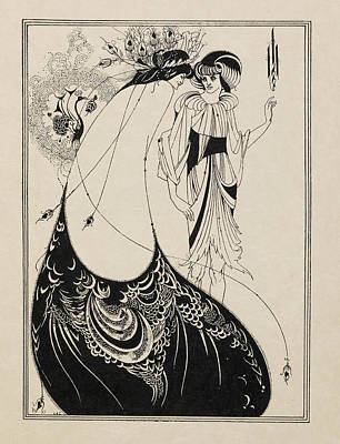 The Peacock Skirt. From Salome . Art Print