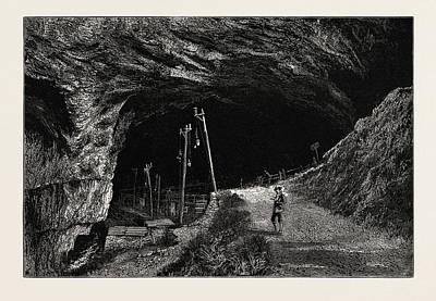 Cavern Drawing - The Peak Cavern, Uk, Great Britain, United Kingdom by English School